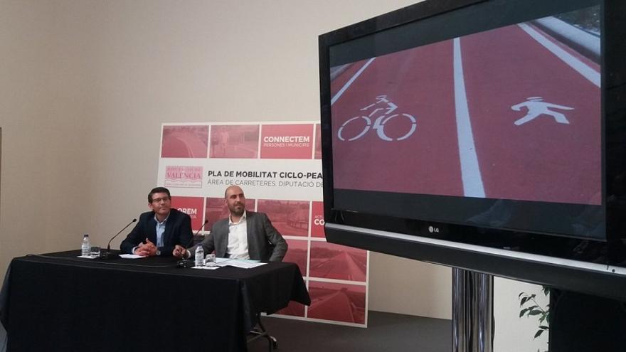 Jorge Rodríguez i Pablo Seguí, durant la presentació del pla
