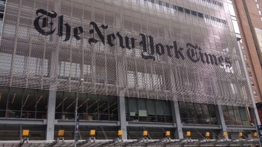 Fachada de la sede de The New York Times