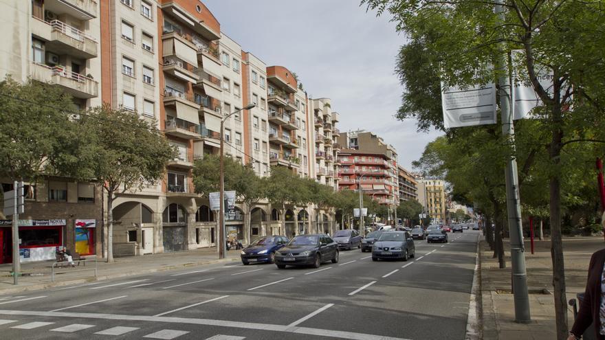 Calle Aragó, en Barcelona