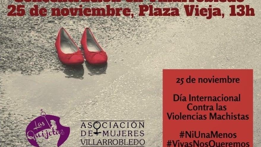 Concentración en Villarrobledo contra la violencia de género