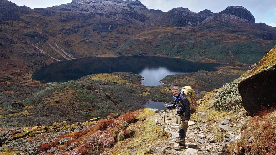 Precioso valle durante el trekking del Makalu.