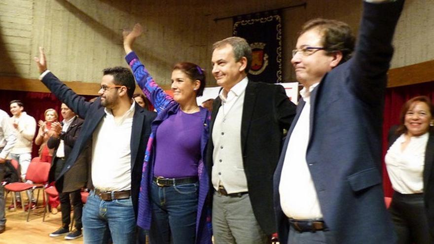 La Agrupación Socialista de Olivenza celebra unas Jornadas de Igualdad y Violencia de Género, en las que han intervenido Vara, así como el expresidente del Gobierno Rodríguez Zapatero y la directora general del Instituto de la Mujer, Elisa Barrientos / PSOE