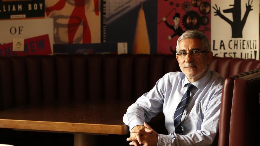 Gaspar Llamazares, en el Ateneo Republicano de Madrid. / Marta Jara