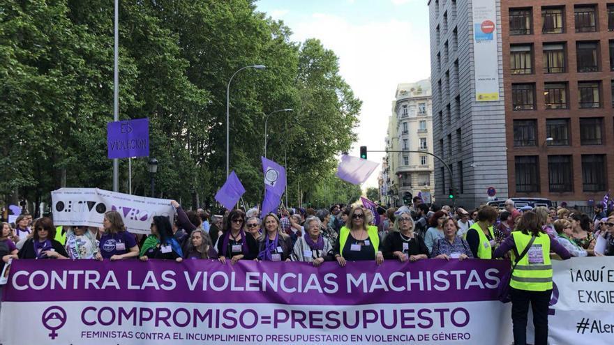 Cabecera de la manifestación en Madrid / David Noriega