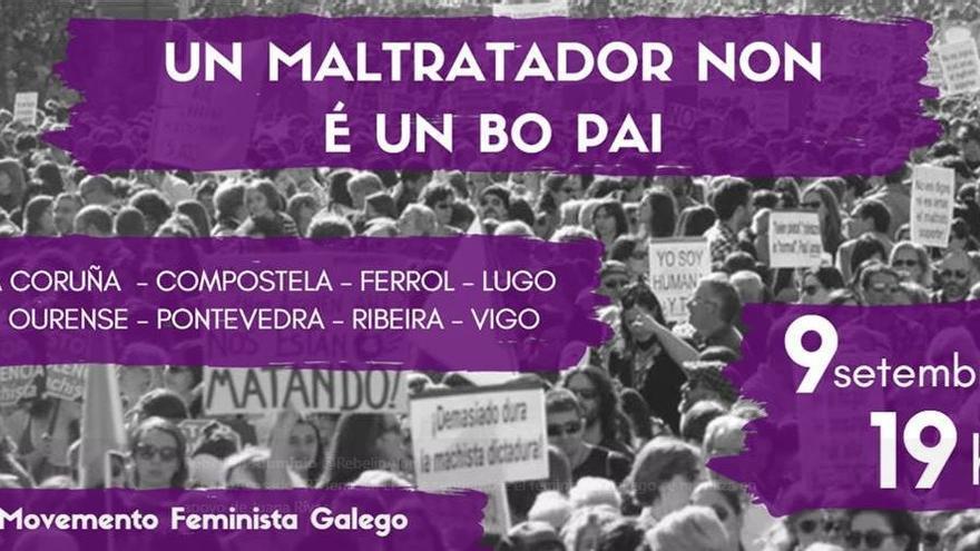 Cartel de las manifestaciones de apoyo a Juana Rivas