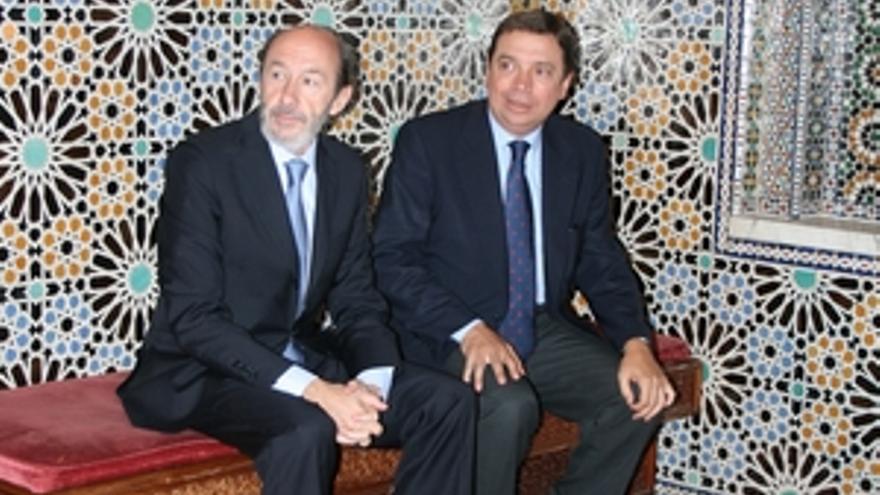 Alfredo Pérez Rubalcaba, en una de sus visitas a Rabat. (ACN PRESS)