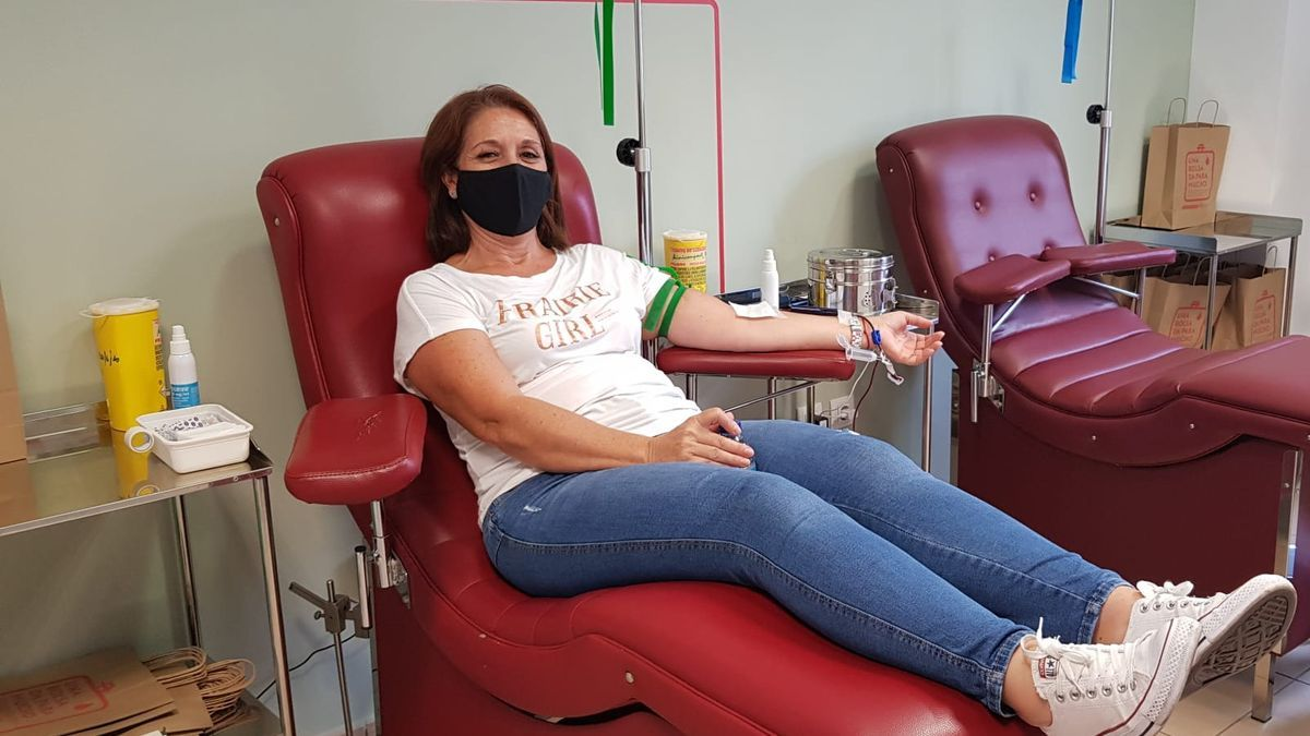 Donante de sangre.