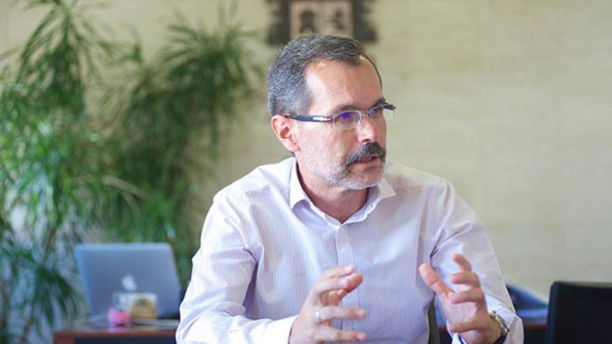 Marcial Morales, presidente del Cabildo de Fuerteventura. (Carlos de Saá)