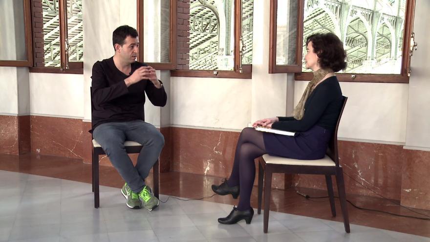 Salut Alcover entrevista al cuiner valencià Ricard Camarena al Mercat Central