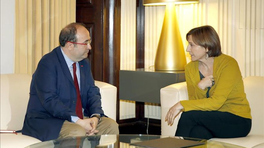 El PSC confirma a Forcadell que no apoyará la investidura de Mas por su hoja de ruta