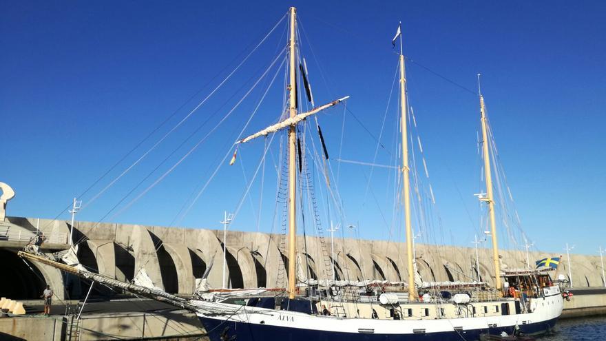 El buque escuela sueco Älva, el pasado viernes, 15 de diciembre, en el Puerto de Tazacorte.