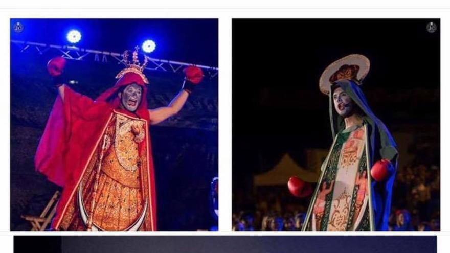 Fotos de sátiras con vírgenes y Jesucristo de la compañía Abubukaka