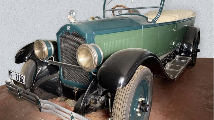 En la imagen, el coche de Alonso Pérez Díaz tal y como se conserva en la actualidad.