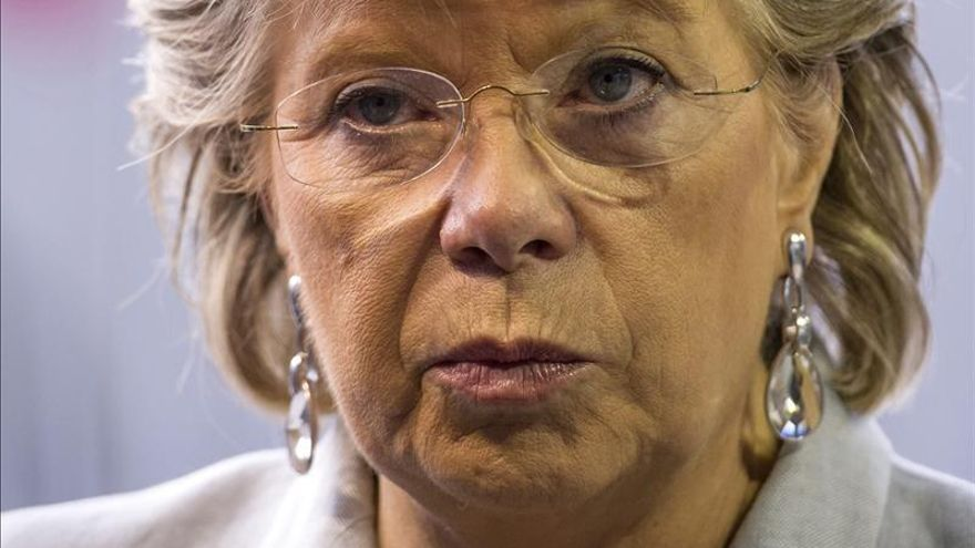 La comisaria Reding fue la principal defensora de las cuotas de género pero tuvo que admitir una propuesta muy suavizada.