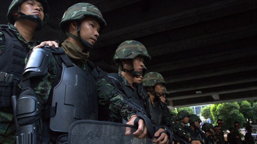 Soldados tailandeses 25 mayo