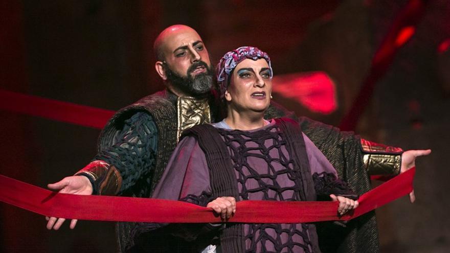 Un momento de la representación de 'El cerco de Numancia'.