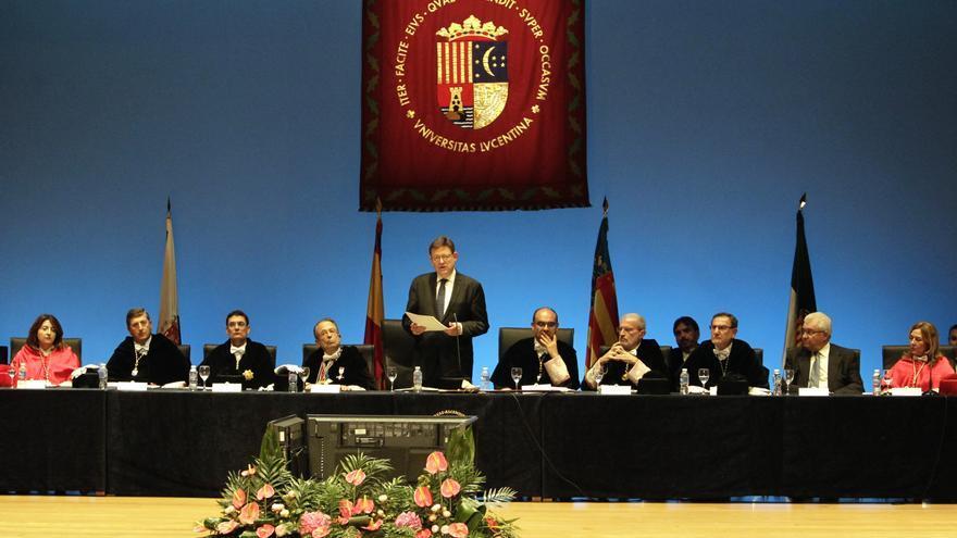 El president de la Generalitat, Ximo Puig, en la Universidad de Alicante