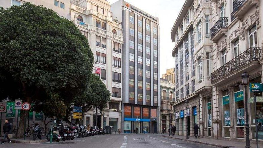 El nuevo edificio de la VIU, en la calle Pintor Sorolla de València.