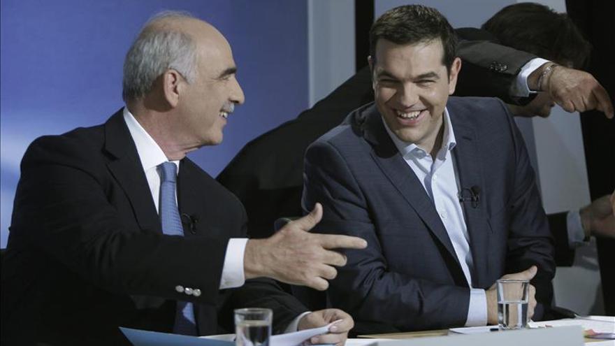 Tsipras y Meimarakis se miden hoy en un debate televisivo de cara a los comicios