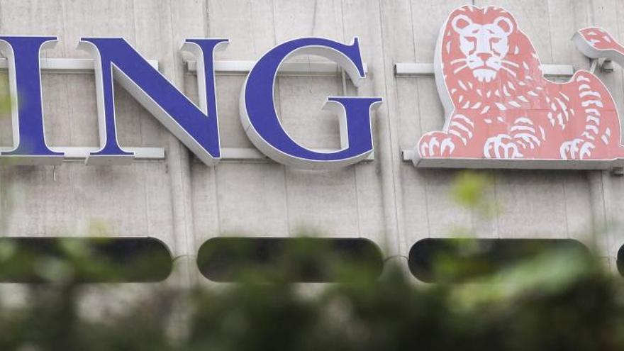 Logo del banco ING.
