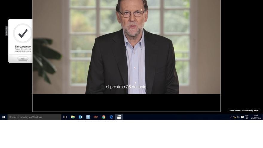 """Rajoy lanza la precampaña con un vídeo en el que apuesta por la """"concordia"""" frente a la """"alternativa extremista"""""""