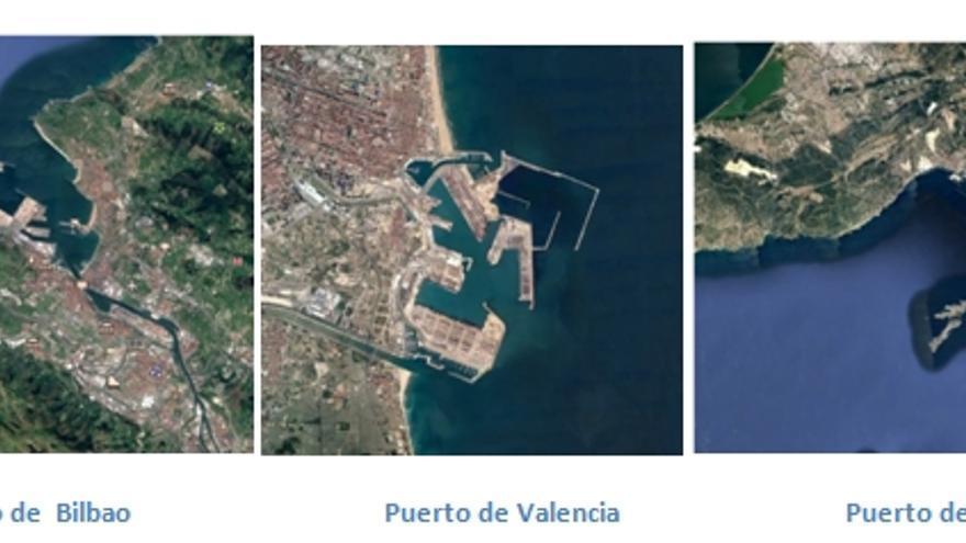 Los puertos de Bilbao, València y Marsella.
