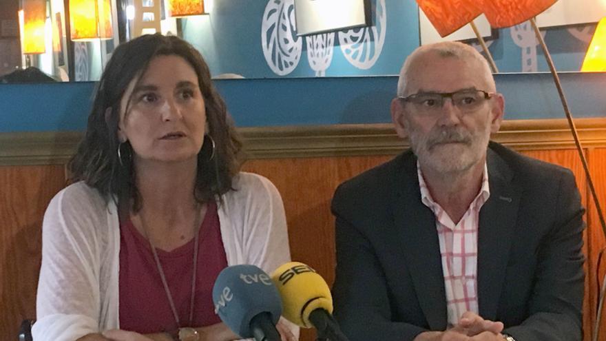 La diputada autonómica Mercedes Caballero junto al alcalde de Alboraia, Miguel Chavarría
