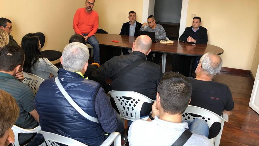 Reunión de Mariano Cejas con afiliados de Ciudadanos en La Palma.