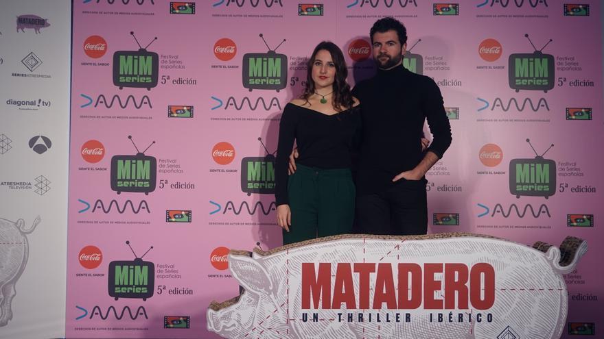 Camila Viyuela y Pep Ambrós en la presentación de 'Matadero'