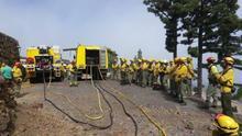 Imagen de archivo de de brigadas contra incendios forestales.