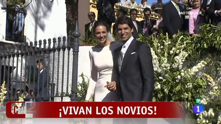 Boda de Cayetano Rivera y Eva González en 'Corazón' de TVE
