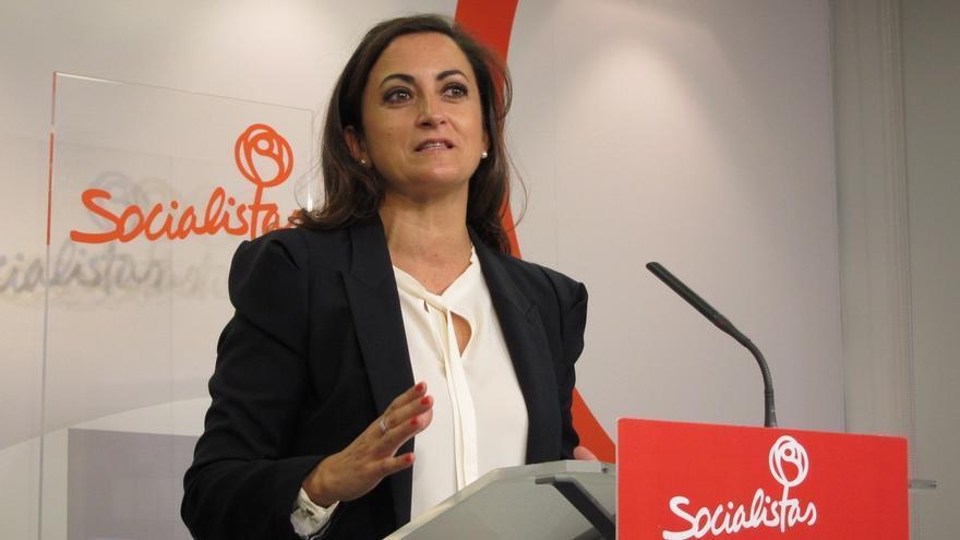 La candidata en La Rioja da todo su apoyo a Pedro Sánchez en la destitución de Tomás Gómez