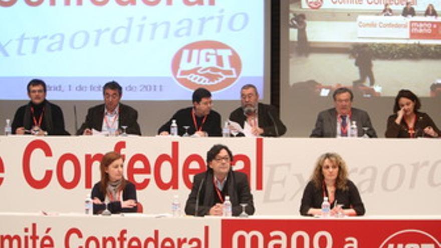Comité Confederal de UGT para aprobar el acuerdo social