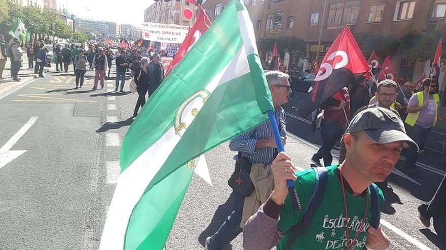 Imagen de la manifestación del 28F del año pasado, durante la salida junto a Santa Justa