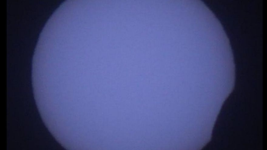 Eclipse solar anular. (IMAGEN DE ALEJANDRO LUMBRERAS, DEL IAC)