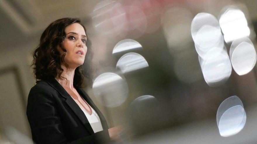Isabel Díaz Ayuso, en el desayuno informativo de Nueva Economía Fórum. / PP