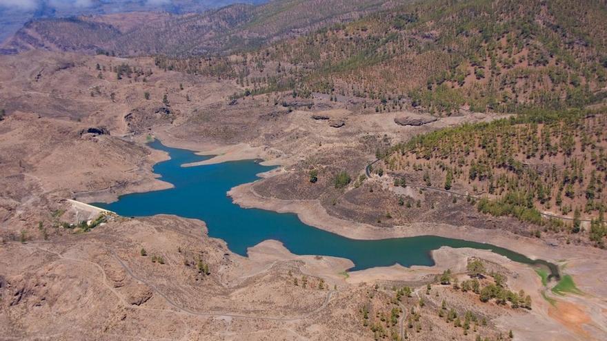 Imagen aérea de una presa grancanaria, por 'El coleccionista de imágenes'.