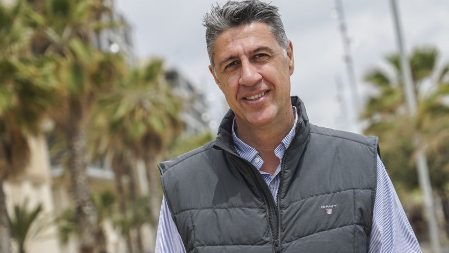 El candidato del PP a la alcaldía de Badalona, Xavier García Albiol, el pasado sábado en Badalona.