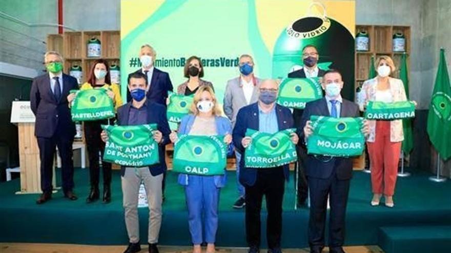 Ocho municipios ondearán la Bandera Verde en pro de la economía circular