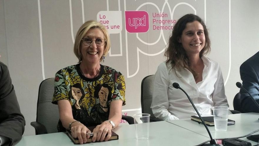 """Rosa Díez subraya las """"enormes contradicciones"""" en el seno de Ciudadanos"""