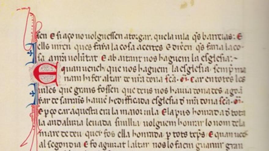 Procesión de Santa María. Dispuesta, presidida y contada por el rey Jaime I El Conquistador