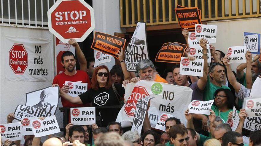 Protesta de afectados por la hipoteca. EFE
