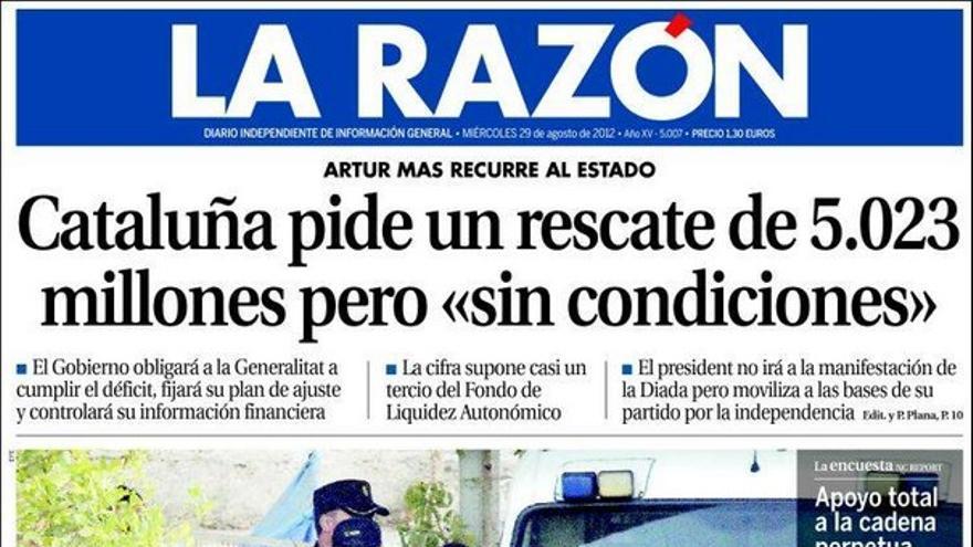 De las portadas del día (29/08/2012) #10