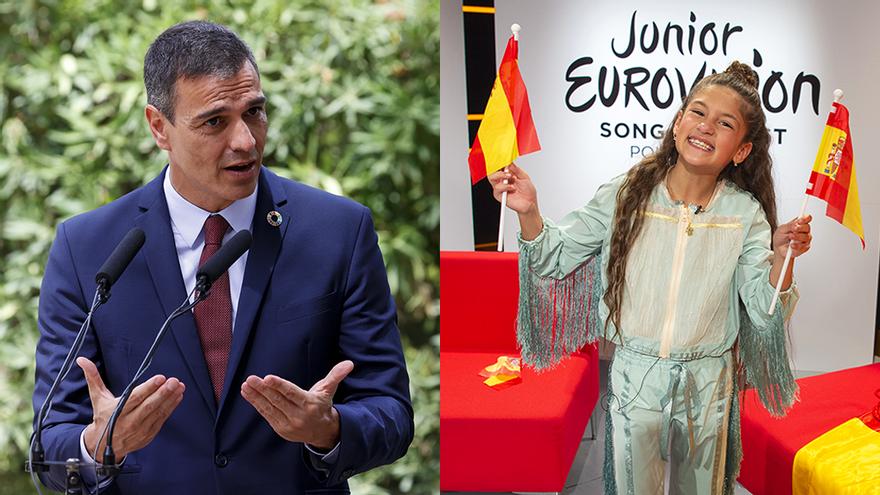 """Pedro Sánchez felicitó a Soleá por transmitir """"optimismo e ilusión"""" en Eurovisión Junior"""