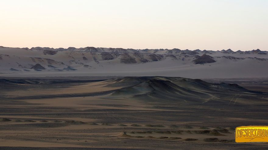 El Desierto Negro, ubicado en Egipto.