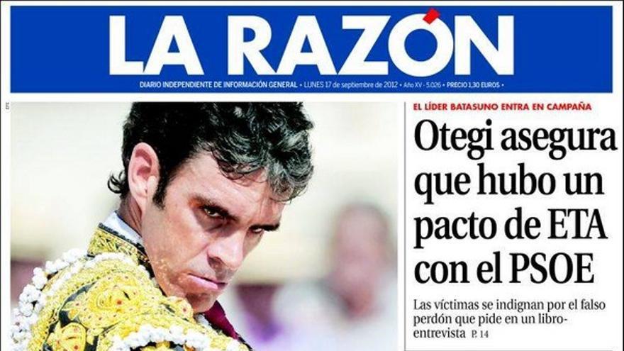 De las portadas del día (17/09/2012) #9