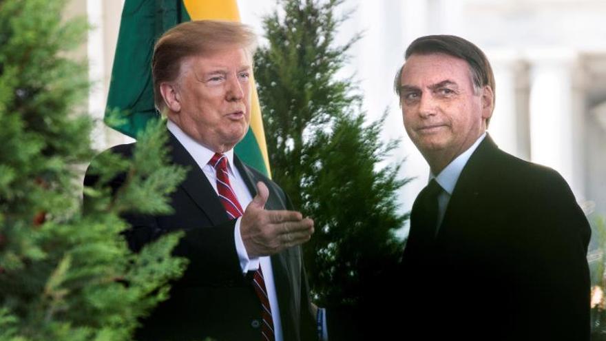 Bolsonaro llega a la Casa Blanca para su reunión con Trump