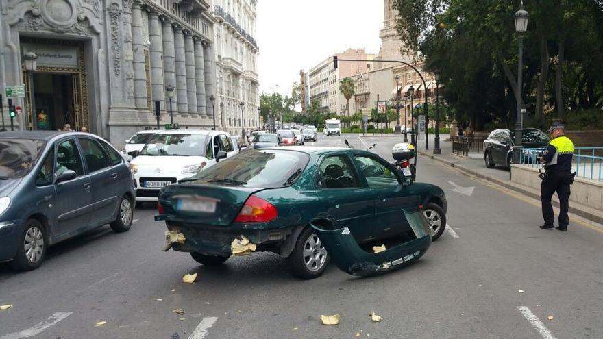 Otro de los coches implicados en el accidente