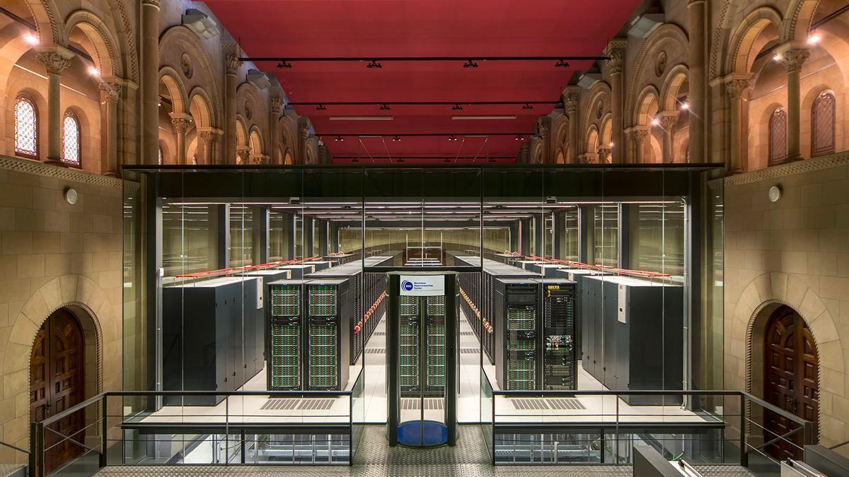El supercomputador MareNostrum 4, en las instalaciones del Centro Nacional de Supercomputación .