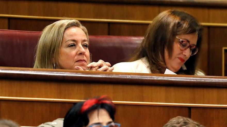 Ana Oramas, durante la primera jornada del debate de investidura que afronta el líder socialista Pedro Sánchez
